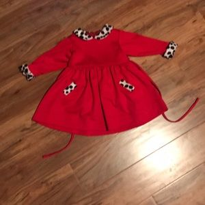 Florence Eiseman Red Dress with animal print